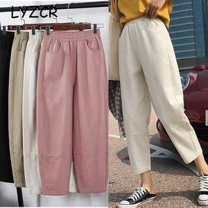 En vrac Joggers Cargo Sarouel Femmes Plus Size Cotton femmes Harem Pants Boyfriend pour les femmes de grande taille crayon Sweatpants