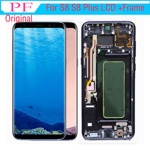 100% original para samsung galaxy s8 borda display lcd com quadro da tela digitador g950 assembléia completa display para samsung s8 plus lcd + ferramenta