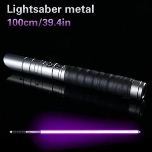 Lightsaber métal épée en métal cosplay Boy Toy Gril Espadaes étoile laser clignotant LED Light Saber Enfants Luke Jouets cadeau T200103