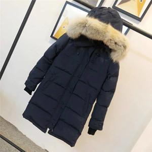 Марка Женщины Parkas Down Куртки Длинные Женские Куртка Зимние Женщины Мода Теплые Зимние Парки Паркуда Пальто