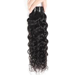 Brazilian Water Wave Bundles 8-28 Inch Human 1 Pieces Remy Hair Weave Bundle Deals Natural Color