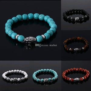 Men Women Bracelets Luxury Jewelry Bead Natural Stone Jewelry Anchor Beaded Buddha Bracelets Buddha Lava Bracelet Party Favor DHL HH9-2194