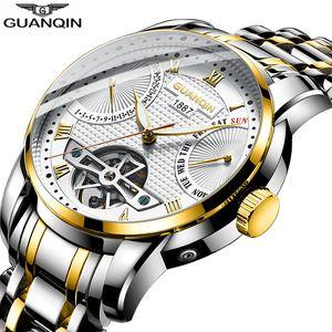 2019 GUANQIN Watch мужчины автоматические часы мужчины плавание механические мужские часы топ бренд класса люкс водонепроницаемый турбийон стиль erkek saat