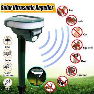 Pest Outdoor Repeller Solar Movimento motorizado ativado animal Repeller Jardim Rega Bird Dog Cat Dissuasão animal Rejeitar T200529