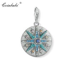 Charm Colgante Vintage Star Blue, 2019 Nueva Thomas Fashion Jewelry Ts Pure 925 Regalo de plata esterlina para las mujeres en forma collar de pulsera