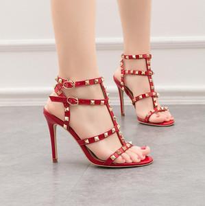 la mode chaussures de marque de luxe femmes rouges hauts talons aiguilles chaussures de mariage partie nuptiale pas cher noir sandales de soirée sexy de danse formelle