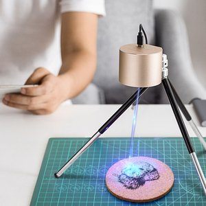 İşaretleme Yazı için KKMOON Taşınabilir Mini Hafif CNC Lazer Kazıma Makinesi Ahşap Router El DIY Lazer Oymacı
