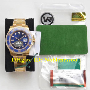 Men 18K Real Wrap Gold Blue 40mm Ceramic Bezel 116618LB 116618 Real Wrapped 18k Yellow Gold MAX VR Factory ETA 2836 Watch Men's Watches