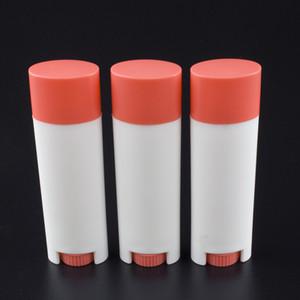 Oval şekilli LB03-5g kozmetik ambalaj tüpü, Boş Dudak Plastik Konteyner, boş deodoran kabı