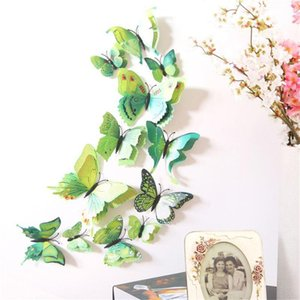 12 pcs 3d Butterfly Wall Stickers Home DIY Decor Wall Decals For Living Room, Bedroom, Kitchen, Toilet, Kids Room Decerations
