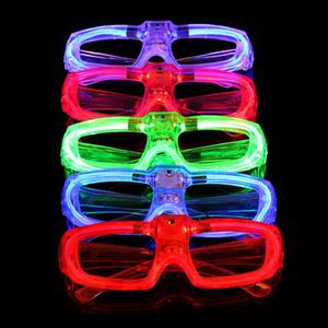 Meraviglioso! Occhiali LED Telaio Luminescence batteria pulsante interruttore a 3 modalità di approvvigionamento del freddo Festival del partito di illuminazione