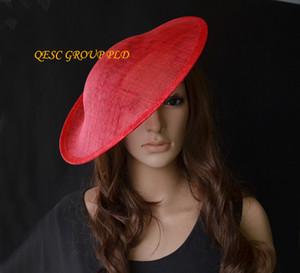 Big red sinamay binding piattino sinamay base cappello fascinator fornitura artigianale incluso fascia in satin, per derby, Races, Party, wedding