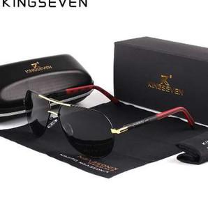 Occhiali da sole polarizzati in alluminio da uomo vintage KINGSEVEN Occhiali da sole classici di marca per occhiali da sole con lenti di guida per gli uomini / Wome
