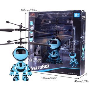 Suspensión luz robot de detección de juguete del niño recargable vuelo luminoso vehículo Mini mano mosca intermitente inducción niños Aeronaves