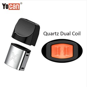 Authentic Yocan X Pods Concentrate Cartridges With Quartz Dual Coil Wax Atomizers For Yocan X Battery E Cigarette Vape Pen