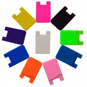Сотовый телефон бумажник силиконовый клей Stick-on бумажник чехол для кредитной карты ультра-тонкий Id держатель бумажник чехол рукав карман для смартфонов S8
