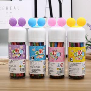 24 Couleurs Aquarelle Stylo Boîte Emballé Dessin Dessin Stylo Lavable Non-toxique Dessin Peinture Fournisseurs Pour Enfants Garçons Girs Cadeau