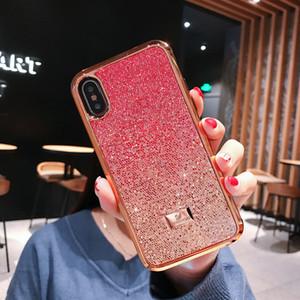 Bling Swarovski Glitter cas xr de téléphone pour Apple iPhone XS Max / XR 8/7/6 plus unque strass brillant Étincelle Cover mignon Girly pare-chocs