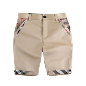 Boy Vêtements Pantalons moyens Couleur Solide Design Boy Summer 100% coton Pantalon moyen