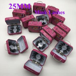Longo Dramatic 25 milímetros Mink Lashes 3D Mink cílios 5D longo Grosso Mink Lashes Handmade False maquiagem pestana Eye Maquiagem 9D Series 16 Styles
