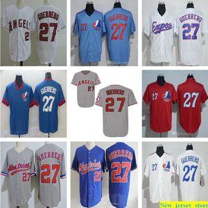 2018 Salón de béisbol de la Fama Montreal Exposs # 27 Vladimir Guerrero Jersey Mens Mujeres Juveniles 1982 Vintage Mesh BP 2004 Retro Kids Shirts