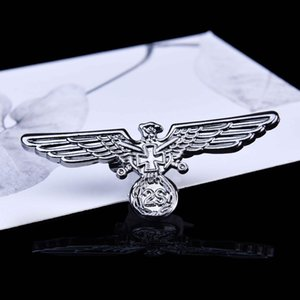 2020 designer brooch European and American fashion style British retro style eagle wing metal badge brooch badge medal jewelry