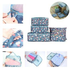 Travel Suitcase Closet Divider Container Storage Bag Clothes Pouch Makeup Bag Home Luggage Bra Underwear Portable Bags Organizer 6PCS Set