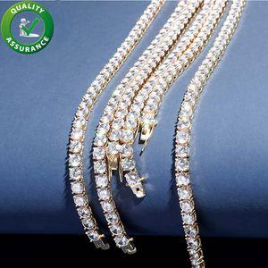 Catene Iced Out Catene Designer Jewelry Men Collana 925 Sterling Sterling Silver Uomo Diamante Collana Diamante Catena Mens Accessori Hiphop Bling Moda