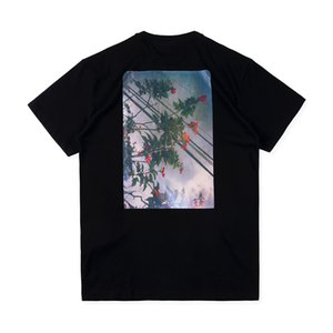 ile Erkek Tişörtü Essentials Çiçek Kısa Kollu Yuvarlak Yaka Moda Katı Tişörtü 2 Renkler Boyut S-XL