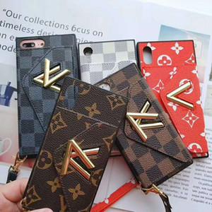 Nouveau portefeuille de style Phone Case pour IPhoneXSMAX XR XS 7P / 8P 7/8 6/6 6sp / 6s Designer de style de carte de poche téléphone Case pleine protection Marque Case
