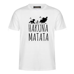 T-shirts en coton d'été 2018 HAKUNA MATATA T-shirts à grande taille et à manches courtes pour femmes