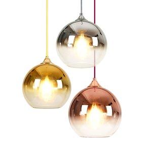 bronze argenté verre gradient or nordique lumière pendentif boule