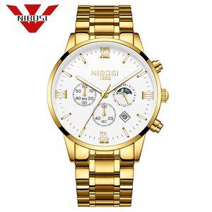 NIBOSI Homens Relógios militar do exército Quartz Relógio de pulso dos homens Relógios Top Marca de luxo Relogio Masculino Sun Moon Star Estilo Relógio