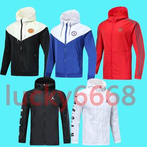 2019 2020 Windbreaker hoodies jacket MBAPPE Paris Boca Juniors Flamengo Real Madrid Brazil jersey soccer Tracksuit sport wear shirt