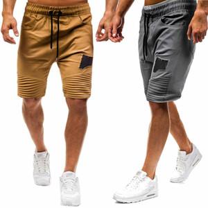 Erkekler Kargo Elastik Cepler Casual Ordu Personeli Ordu Açık Egzersiz Şort ile Shorts Ripped