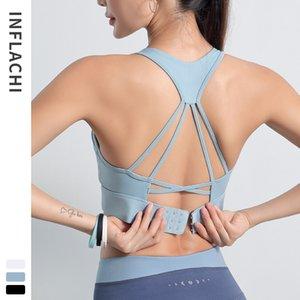 2020 Le donne di sport Bra Bra esecuzione di yoga del reggiseno di allenamento di ginnastica antiurto alta fitness Impact Dancing formazione carro armato della maglia