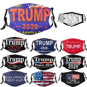 Trump masque facial 2020 Trump Supplies élections américaines font de l'Amérique Grand Encore une fois la mode Masques réglables Filtre Masque Remplaçable à vélo
