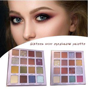 Bellezza vetrata opaca Ombretto Pallete di 16 colori Pearlescent di scintillio di trucco corredo di trucco professionale Pallete Shadows