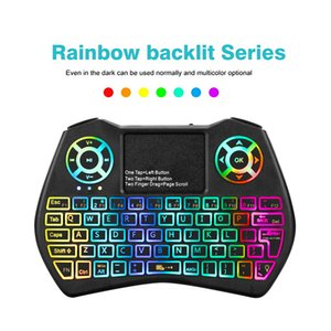 2019 New Mini Keyboard I9 Plus Colorful Backlight Air Mouse With Touchpad Remote Control Work For Android TV BOX TV Mini PC Projector X96