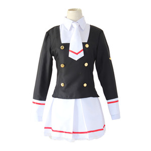 Li Tomoyo School Uniform Cardcaptor Sakura Clear Card Cosplay Costume Sakura Kinomoto Shaoran Li Tomoyo School Uniform Sailor Suit