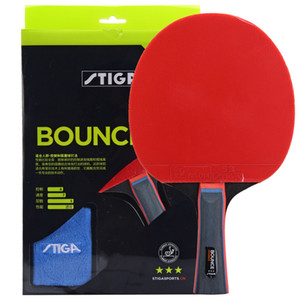 Original Stiga Pro Bounce Quality 3 Stars Table Tennis Racket Ping Pong Paddle Pimples In Rackets Shakehands Fl cs T190927