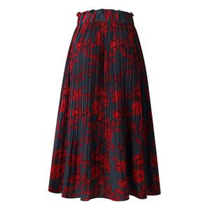 Floral Dot Jupe Jupe mi-longue Casual Jupes Printed Mode femme Vêtements Robe Robes d'été Mode Drop Ship gros