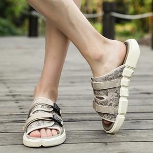 Charming2019 46 Code Will Camouflage Slipper Man Sandals وقت الفراغ Trend Vietnam ملابس أخرى أحذية الشاطئ