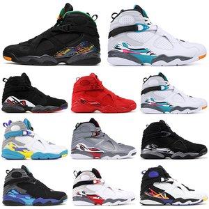 2019 Vente en gros 8 8s Chaussures de basketball hommes VALENTINES DAY Bricoleur AQUA Reflections PLAYOFF Trois baskets design PEAT baskets de sport pour hommes