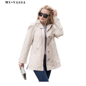 MS vassa 2019 الستر ربيع جديد معطف الأساسية السيدات عارضة جاكيتات زائد الحجم 5xl 7xl رفض طوق الإناث قميص