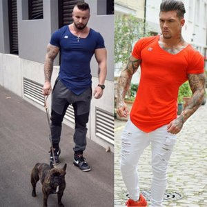 Hommes Casual Summer Style T-shirts manches courtes Longueur Motif massif Type Col O-Neck 2020 Vêtements normal Mode