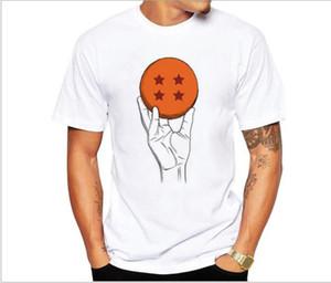 Bola de dragon camiseta para hombre del verano de Dragon Ball Z Super Son Goku del ajustado de Cosplay 3D camisetas animado vegeta tamaño DragonBall camiseta Homme Asia
