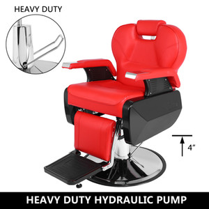 Profissional Salon Barber Chair 8702A Red