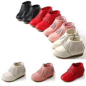 2020 new whole sale girls boot children leathe rboots tendon bottom baby shoes black pink red white sports sneakers size 25-33