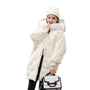 Doudoune de style moyen et long femme 2018 nouvelle couche coréenne de costume de pain lâche costume de manteau d'hiver de laine légère et lourde 90313